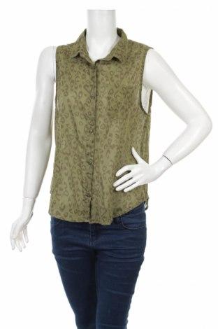 Γυναικείο πουκάμισο H&M Divided, Μέγεθος L, Χρώμα Πράσινο, Βαμβάκι, Τιμή 11,34€