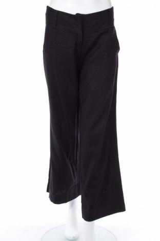 Дамски панталон, Размер S, Цвят Черен, 52% вискоза, 48% лен, Цена 8,03лв.