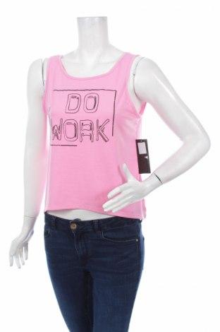 Γυναικείο αμάνικο μπλουζάκι Jessica Simpson, Μέγεθος S, Χρώμα Ρόζ , 95% πολυεστέρας, 5% ελαστάνη, Τιμή 4,69€