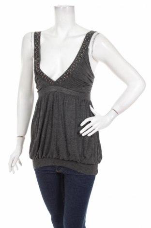 Tricou de damă Pin Up, Mărime S, Culoare Gri, 94% viscoză, 6% elastan, Preț 10,84 Lei