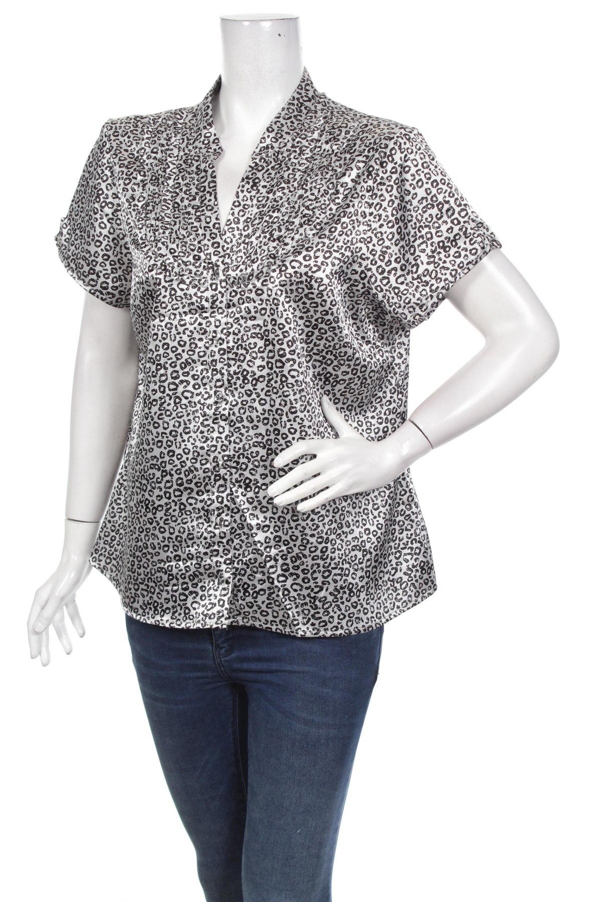 Γυναικείο πουκάμισο Suzanne Grae, Μέγεθος XL, Χρώμα Γκρί, Πολυεστέρας, ελαστάνη, Τιμή 15,46€