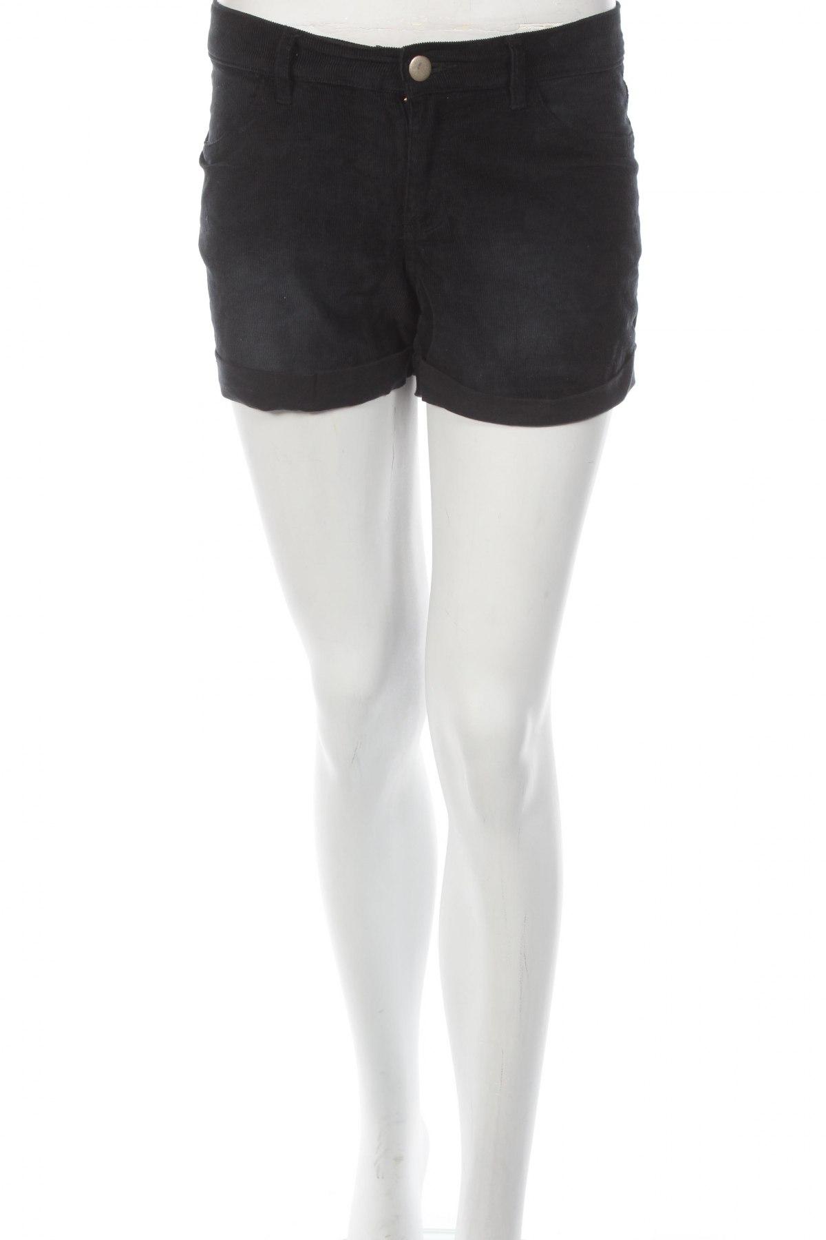 Γυναικείο κοντό παντελόνι, Μέγεθος S, Χρώμα Μαύρο, 97% βαμβάκι, 3% ελαστάνη, Τιμή 4,90€