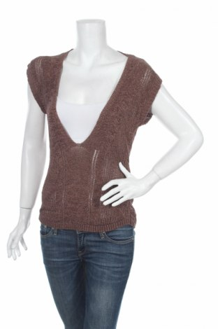 Дамски пуловер, Размер L, Цвят Кафяв, Цена 7,48лв.