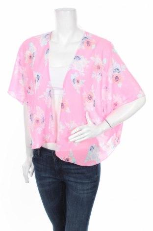 Дамска жилетка H&M Divided, Размер M, Цвят Розов, Полиестер, Цена 8,28лв.