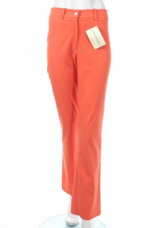 Дамски панталон PLOUMANAC'H, Размер M, Цвят Оранжев, 62% вискоза, 35% полиестер, 3% еластан, Цена 44,30лв.