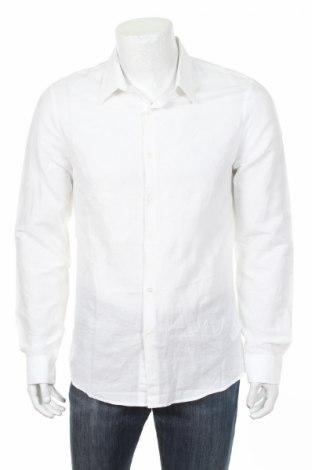 Ανδρικό πουκάμισο Marciano, Μέγεθος M, Χρώμα Λευκό, 46% λινό, 54% βαμβάκι, Τιμή 20,72€