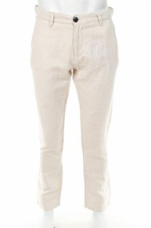 Pánske nohavice  Selected Homme, Veľkosť L, Farba Béžová, 55% ľan, 45% bavlna, Cena  17,68€
