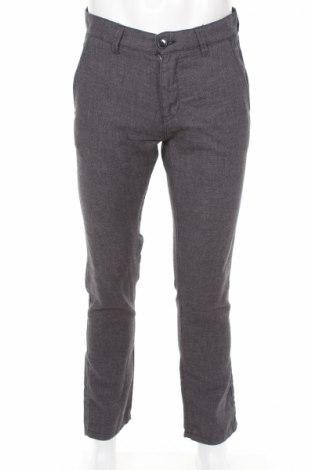 Мъжки панталон Selected Homme, Размер M, Цвят Сив, 55% лен, 45% памук, Цена 12,61лв.