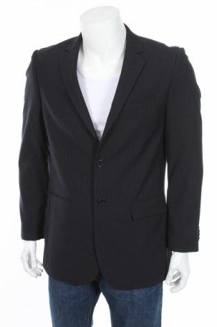 Мъжко сако F&F, Размер S, Цвят Син, 90% полиестер, 10% вискоза, Цена 8,84лв.