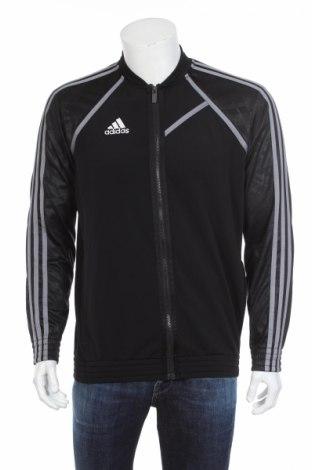 Мъжко спортно горнище Adidas, Размер L, Цвят Черен, Полиестер, Цена 25,20лв.