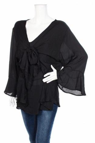 Дамска блуза, Размер 4XL, Цвят Черен, 100% полиестер, Цена 24,57лв.