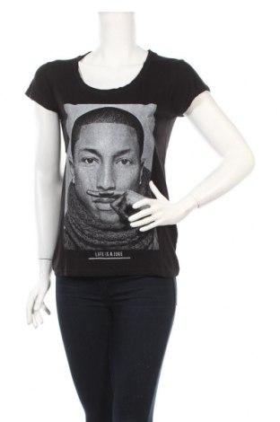 Дамска блуза Eleven Paris, Размер S, Цвят Черен, 50% памук, 50% модал, Цена 42,09лв.