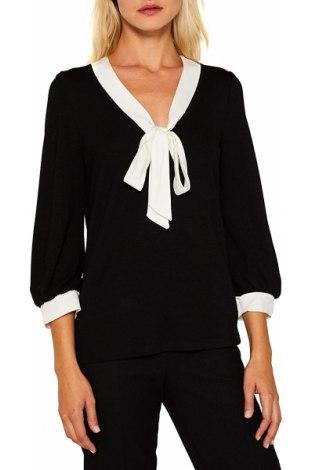Γυναικεία μπλούζα Esprit, Μέγεθος XL, Χρώμα Μαύρο, 85% βισκόζη, 14% πολυεστέρας, 1% ελαστάνη, Τιμή 18,22€
