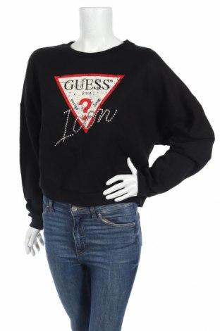 Дамска блуза Guess, Размер M, Цвят Черен, 97% памук, 3% полиестер, Цена 66,75лв.