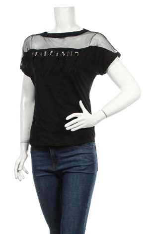 Дамска блуза Guess By Marciano, Размер S, Цвят Черен, Памук, Цена 78,00лв.