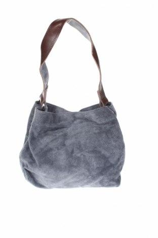 Дамска чанта, Цвят Син, Естествен велур, Цена 24,36лв.