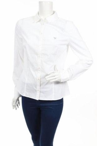 Дамска риза Guess, Размер M, Цвят Бял, 60% памук, 35% полиестер, 5% еластан, Цена 59,25лв.