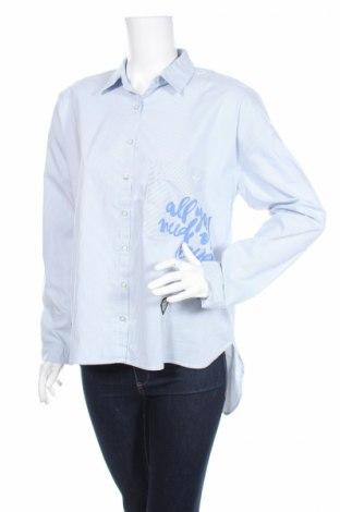 Дамска риза Ltb, Размер L, Цвят Син, 76% памук, 22% полиестер, 2% еластан, Цена 34,45лв.