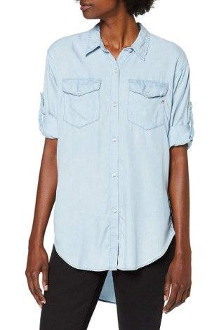 Γυναικείο πουκάμισο Replay, Μέγεθος S, Χρώμα Μπλέ, Lyocell, Τιμή 32,24€
