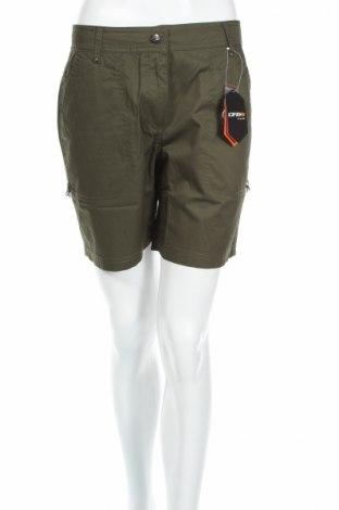 Дамски къс панталон Icepeak, Размер M, Цвят Зелен, Вискоза, Цена 44,20лв.