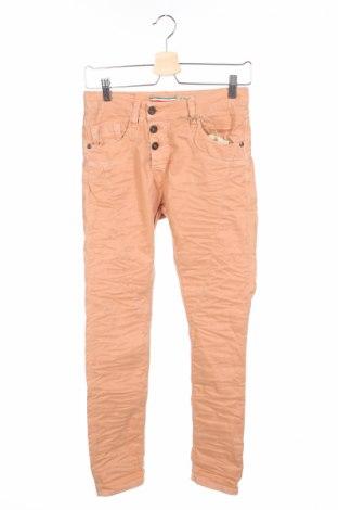 Дамски панталон Please, Размер XS, Цвят Оранжев, 97% памук, 3% еластан, Цена 30,16лв.