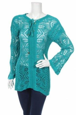 Дамски пуловер Guess, Размер M, Цвят Син, Памук, Цена 67,08лв.