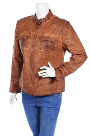 Γυναικείο δερμάτινο μπουφάν Canda, Μέγεθος L, Χρώμα Καφέ, Δερματίνη, Τιμή 14,96€