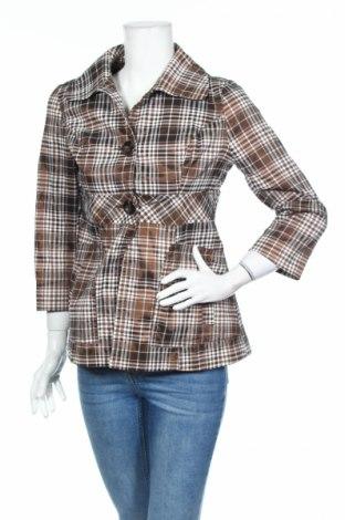 Дамско палто Zara Trafaluc, Размер M, Цвят Кафяв, 78% полиестер, 18% памук, 4% еластан, Цена 10,85лв.