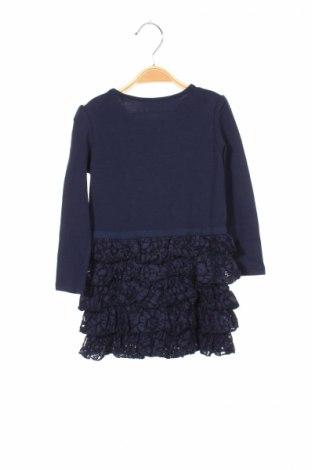 Детска рокля Guess, Размер 2-3y/ 98-104 см, Цвят Син, 97% памук, 3% еластан, Цена 50,70лв.
