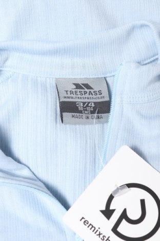 Детска спортна блуза Trespass, Размер 2-3y/ 98-104 см, Цвят Син, Полиестер, Цена 7,20лв.