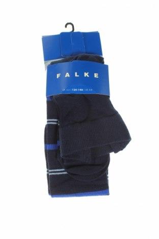 Детски спортни чорапи Falke, Размер 8-9y/ 134-140 см, Цвят Син, 77% памук, 22% полиамид, 1% еластан, Цена 21,76лв.