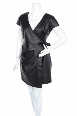 Кожена рокля Topshop, Размер M, Цвят Черен, Еко кожа, Цена 64,80лв.