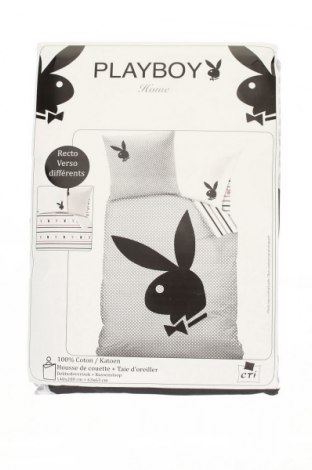 Комплект спално бельо Playboy, Цвят Бял, Памук, Цена 66,24лв.