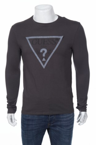 Bluză de bărbați Guess, Mărime M, Culoare Gri, 95% bumbac, 5% elastan, Preț 234,21 Lei