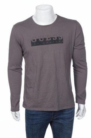 Мъжка блуза Guess, Размер L, Цвят Сив, Памук, Цена 56,88лв.