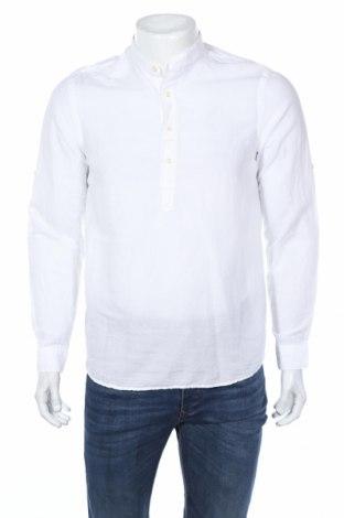 Bluză de bărbați Zara, Mărime S, Culoare Alb, 68% bumbac, 32% in, Preț 84,21 Lei