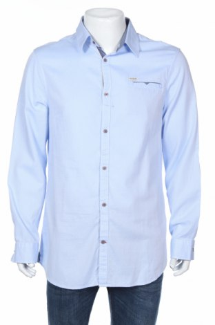 Мъжка риза Guess, Размер XL, Цвят Син, 100% памук, Цена 74,12лв.