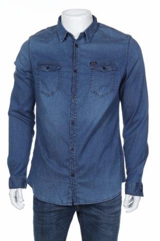 Мъжка риза Guess, Размер XL, Цвят Син, 98% памук, 2% еластан, Цена 71,28лв.