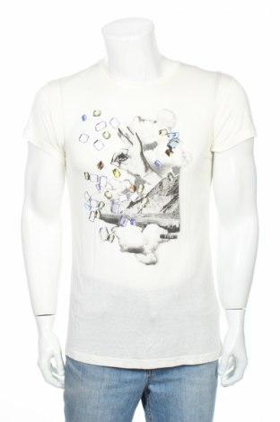 Tricou de bărbați Diesel, Mărime M, Culoare Alb, Viscoză, Preț 125,05 Lei