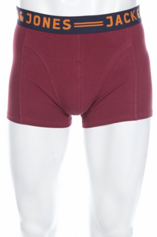 Pánske boxserky Jack & Jones, Rozměr M, Barva Červená, 95% bavlna, 5% elastan, Cena  213,00Kč
