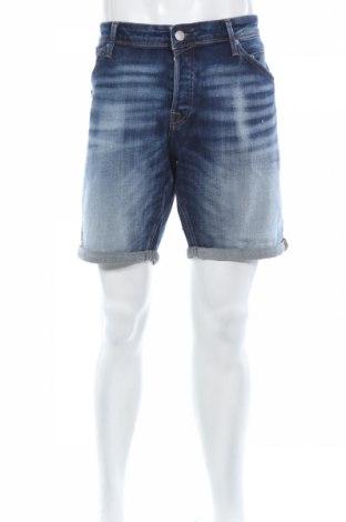 Мъжки къс панталон Jack & Jones, Размер XL, Цвят Син, 98% памук, 2% еластан, Цена 51,35лв.