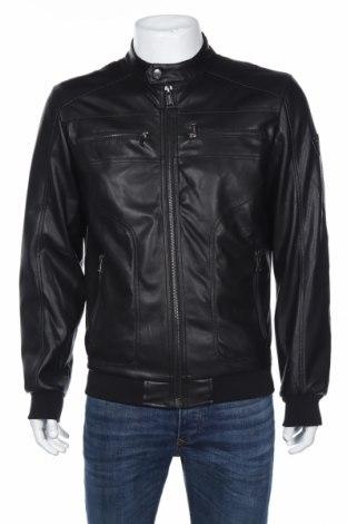 Мъжко кожено яке Guess, Размер L, Цвят Черен, Еко кожа, Цена 289,00лв.