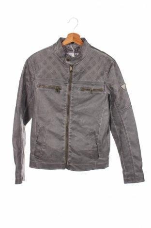 Мъжко кожено яке Guess, Размер XS, Цвят Сив, Еко кожа, Цена 109,82лв.