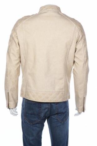 Мъжко кожено яке Guess, Размер L, Цвят Бежов, Еко кожа, Цена 115,60лв.