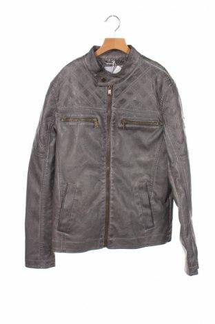 Мъжко кожено яке Guess, Размер XS, Цвят Сив, Еко кожа, Цена 90,65лв.