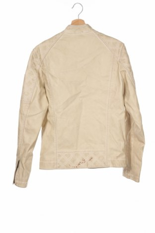 Мъжко кожено яке Guess, Размер XS, Цвят Бежов, Еко кожа, Цена 98,42лв.
