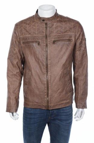 Мъжко кожено яке Guess, Размер XL, Цвят Кафяв, Еко кожа, Цена 106,02лв.