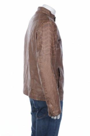 Мъжко кожено яке Guess, Размер XL, Цвят Кафяв, Еко кожа, Цена 172,98лв.
