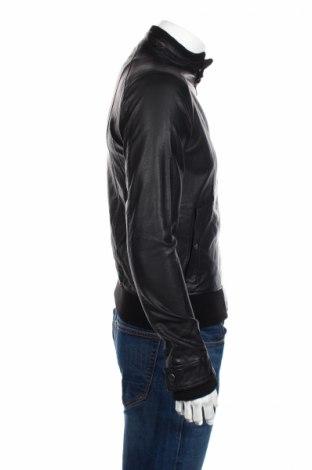 Мъжко кожено яке Mo, Размер XS, Цвят Черен, Еко кожа, Цена 58,50лв.