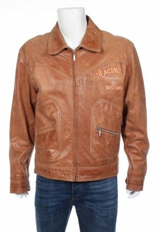 Мъжко кожено яке Mustang, Размер XL, Цвят Кафяв, Естествена кожа, Цена 70,20лв.